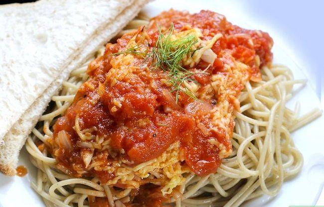 Prent getiteld Maak Tuisgemaakte Spaghetti Sous Stap 30