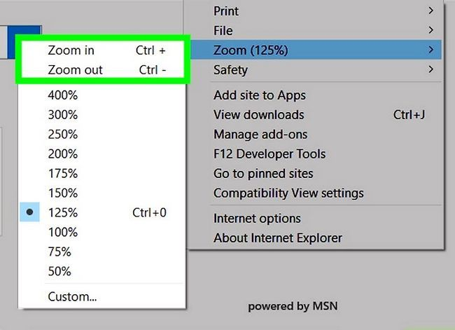 Prent getiteld Inzoomen Internet Explorer Stap 6