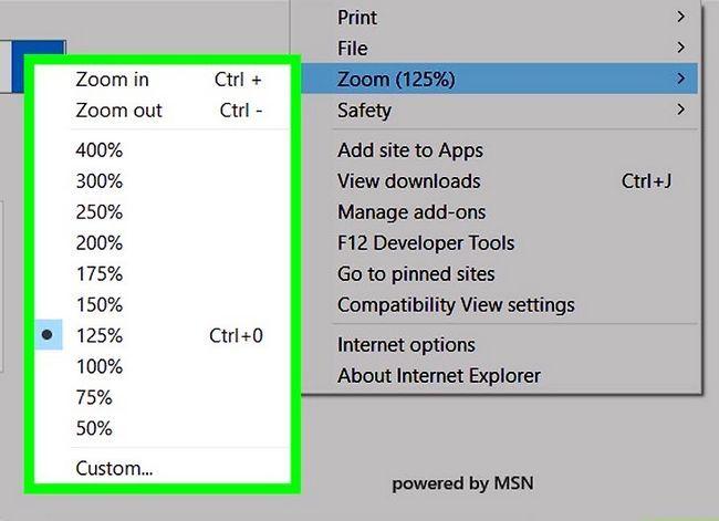 Prent getiteld Inzoomen Internet Explorer Stap 7