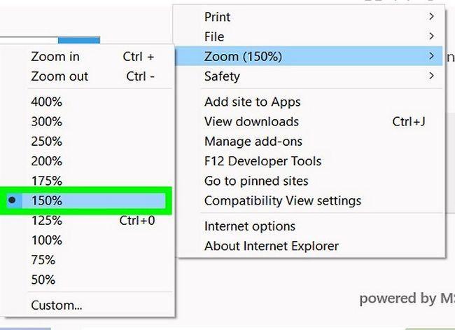Prent getiteld Inzoomen Internet Explorer Stap 8