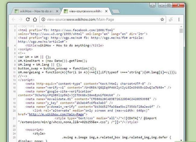 Prent getiteld Hack `n webwerf met basiese HTML-kodering stap 3