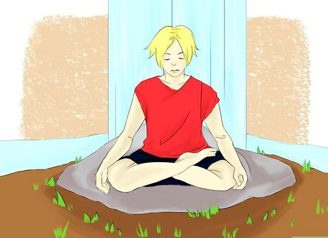 Prent getitel Vind innerlike vrede deur middel van meditasie Stap 2