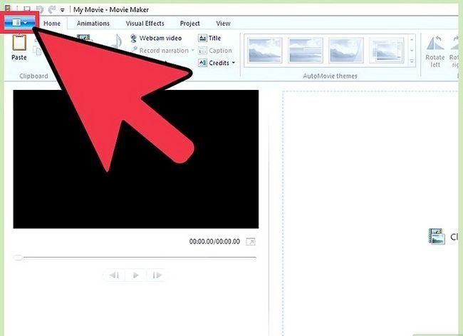 Image getiteld Invoer media lêers vanaf `n eksterne toestel na Windows Live Movie Maker Stap 2