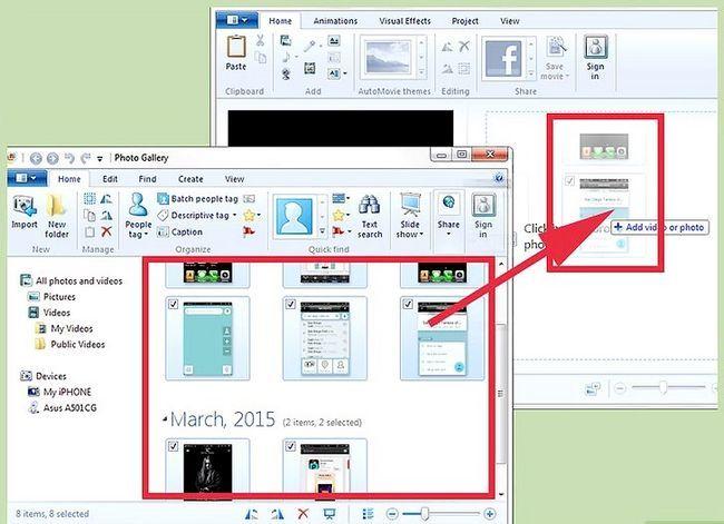 Beeld getiteld Invoermedia-lêers vanaf `n eksterne toestel na Windows Live Movie Maker Stap 8