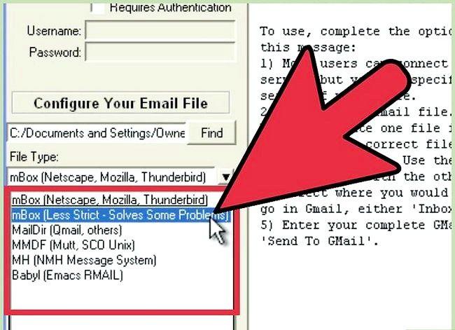 Prent getiteld Invoer Argief Outlook E-pos In Gmail Met GML Stap 7