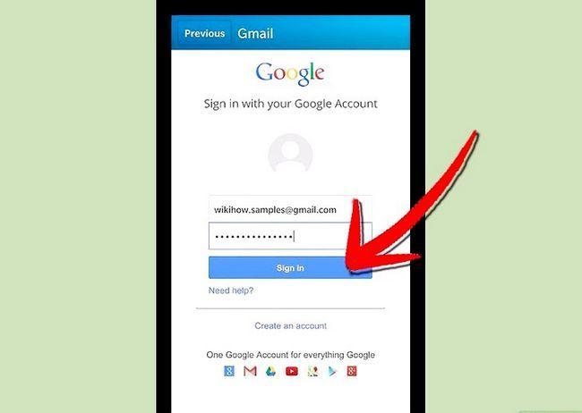 Prent getiteld Teken in na Gmail Stap 17