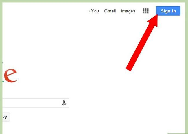 Prent getiteld Teken in na Gmail Stap 2