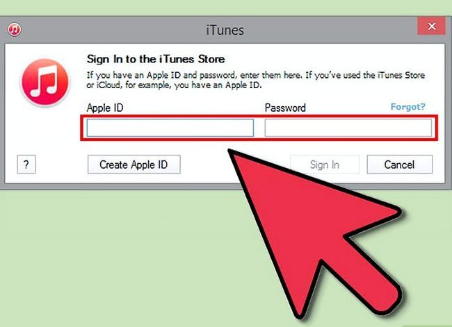 Beeld getiteld Teken in op iTunes Stap 3