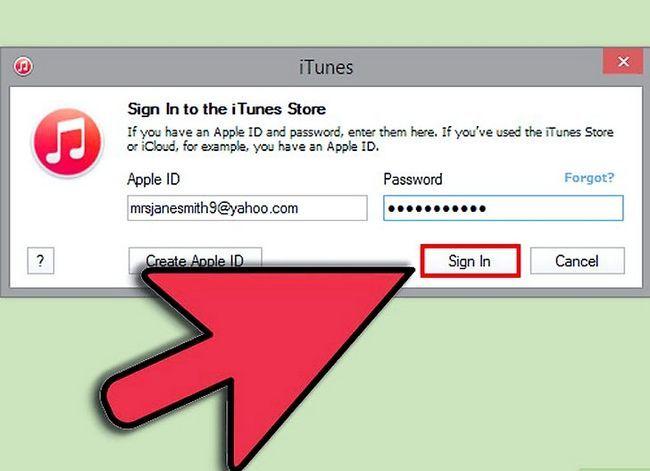 Beeld getiteld Teken in op iTunes Stap 4