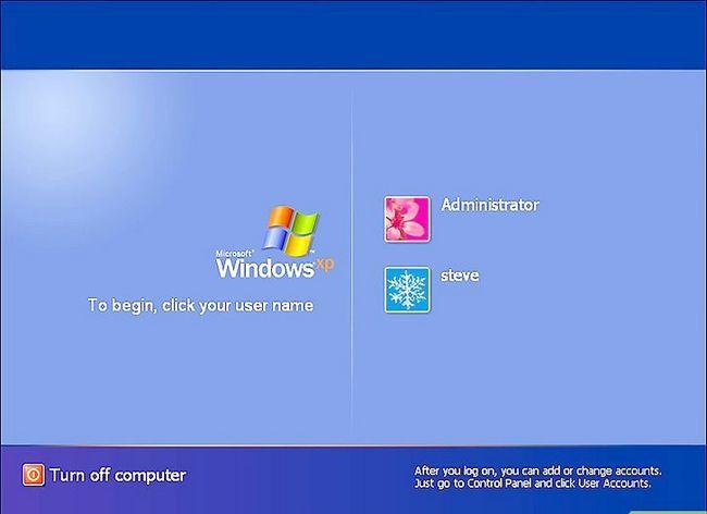 Prent getiteld Teken in op Windows XP Gebruik die standaard Blank Administrator Password. Stap 4