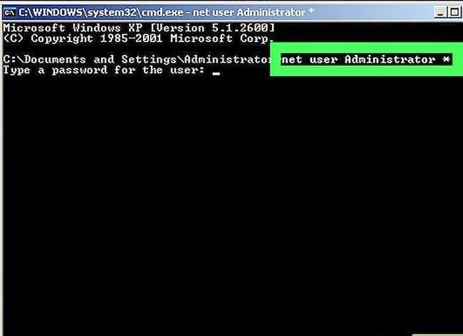 Prent getiteld Teken aan op Windows XP Gebruik die standaard leë administrateur wagwoord stap 9