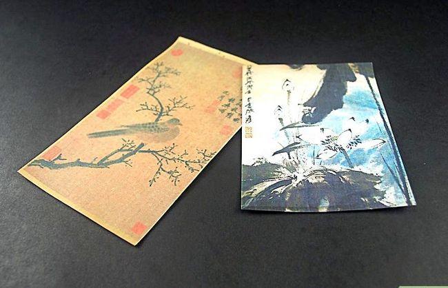 Prent getiteld Begin Chinese Borselverf Stap 1
