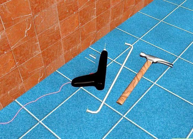 Prent getiteld Installeer Badkamertoebehore op Keramiek Tile Stap 1