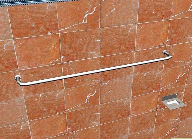 Beeld getiteld Installeer Badkamertoebehore op Keramiek Tile Stap 9