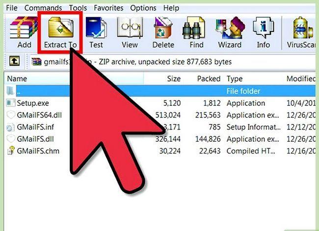Prent getiteld Installeer die Gmail Drive Stap 2