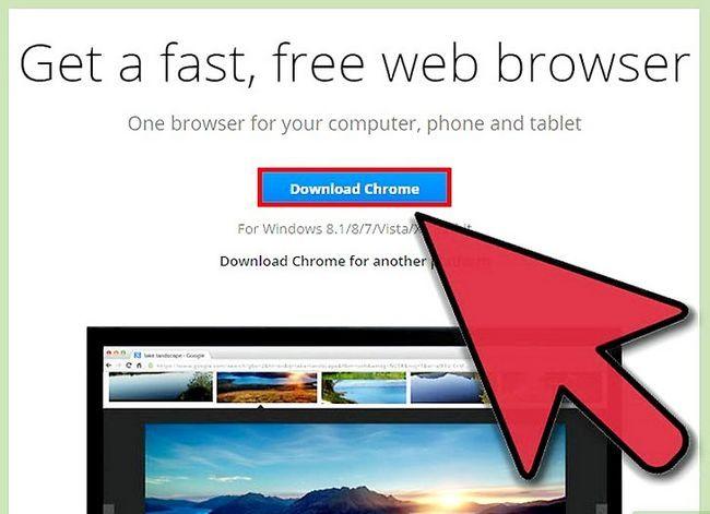 Prent getiteld Aflaai en installeer Google Chrome Stap 2