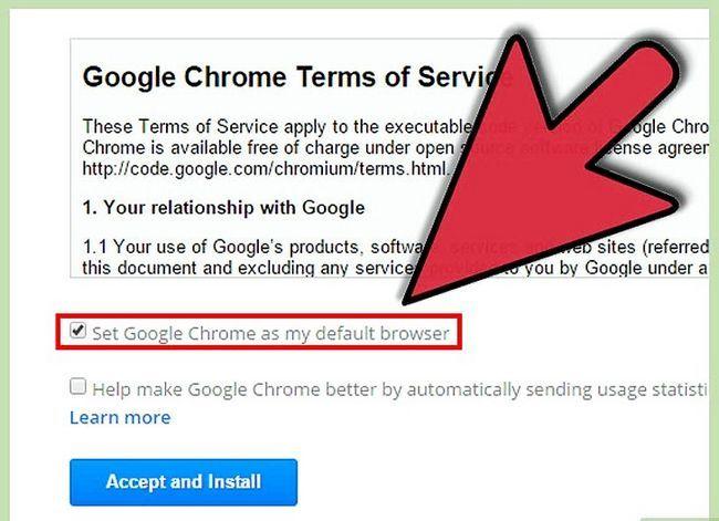 Prent getiteld Aflaai en installeer Google Chrome Stap 3