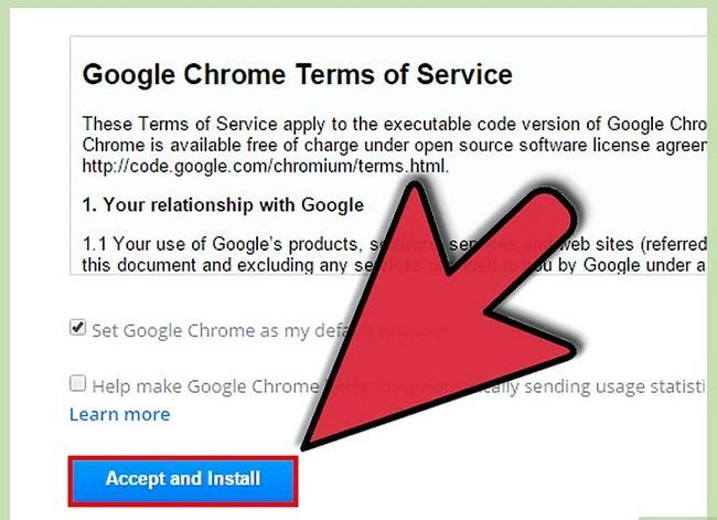 Prent getiteld Aflaai en installeer Google Chrome Stap 4