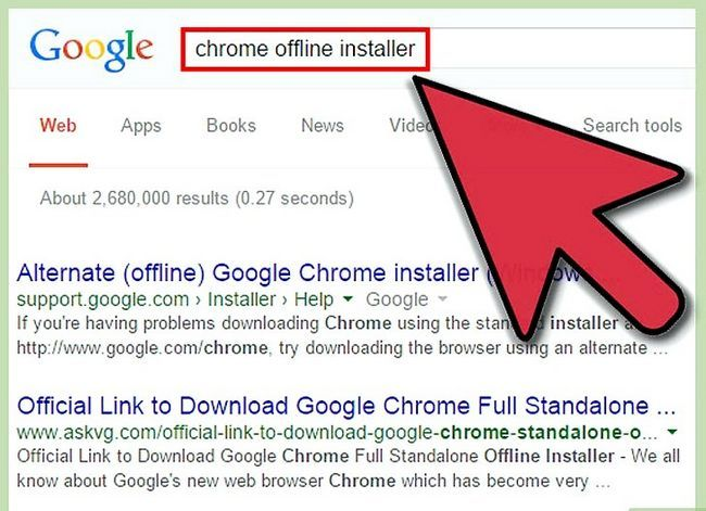 Prent getiteld Download en installeer Google Chrome Stap 6