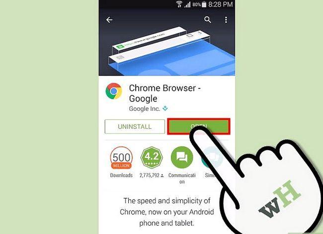 Prent getiteld Download en installeer Google Chrome Stap 10