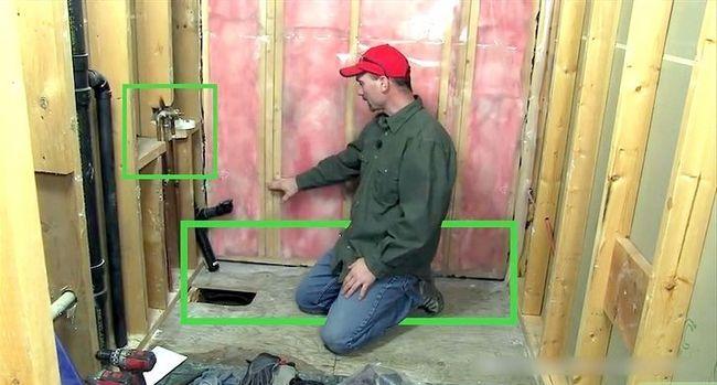 Prent getiteld Plumb a Bathroom Stap 1