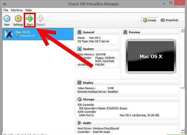 Prent getiteld Installeer Mac OS X op VirtualBox vir Windows 7 Stap 11