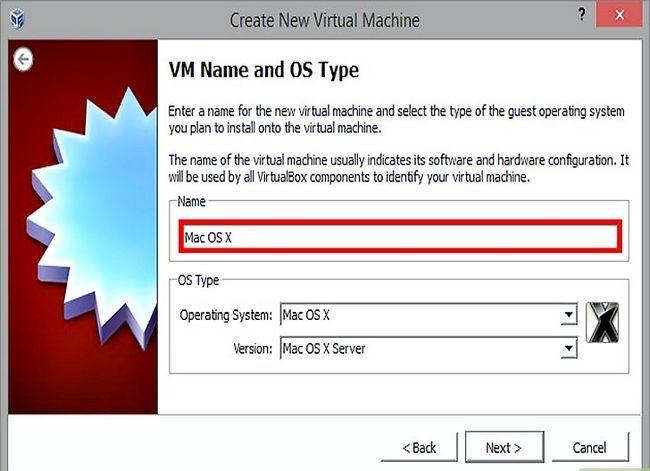 Prent getiteld Installeer Mac OS X op VirtualBox vir Windows 7 Stap 4