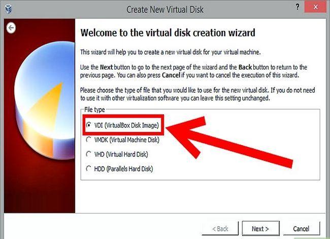Prent getiteld Installeer Mac OS X op VirtualBox vir Windows 7 Stap 7