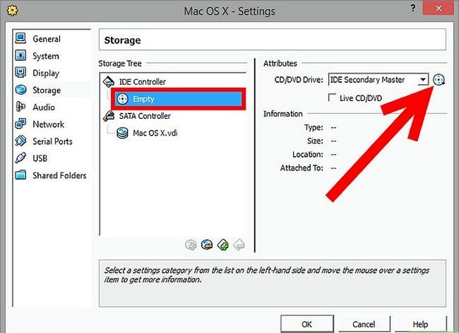 Prent getiteld Installeer Mac OS X op VirtualBox vir Windows 7 Stap 10