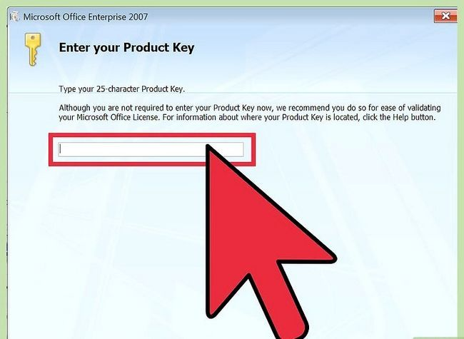 Prent getiteld installeer Microsoft Office 2007 Stap 2