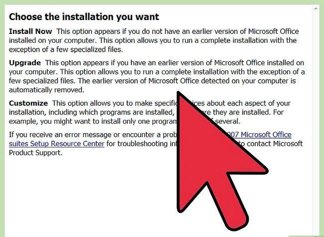 Prent getiteld Installeer Microsoft Office 2007 Stap 3