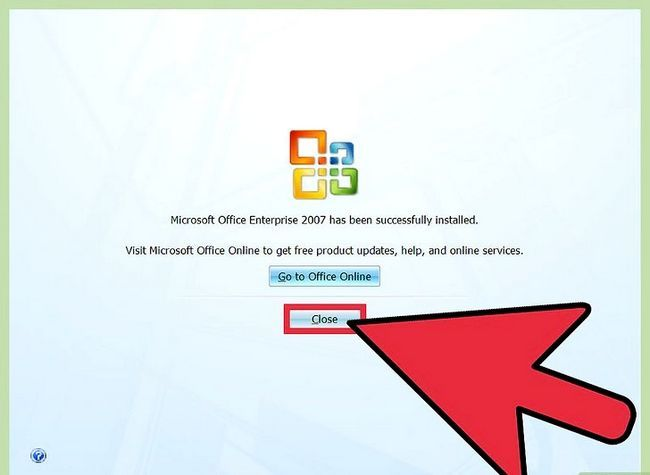 Prent getiteld installeer Microsoft Office 2007 Stap 6