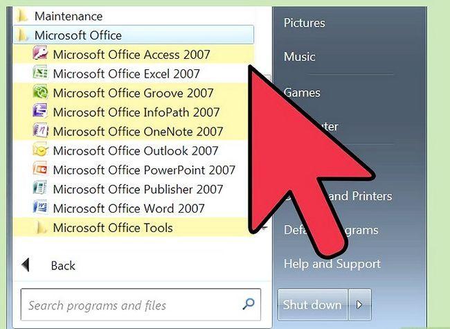 Prent getiteld installeer Microsoft Office 2007 Stap 7