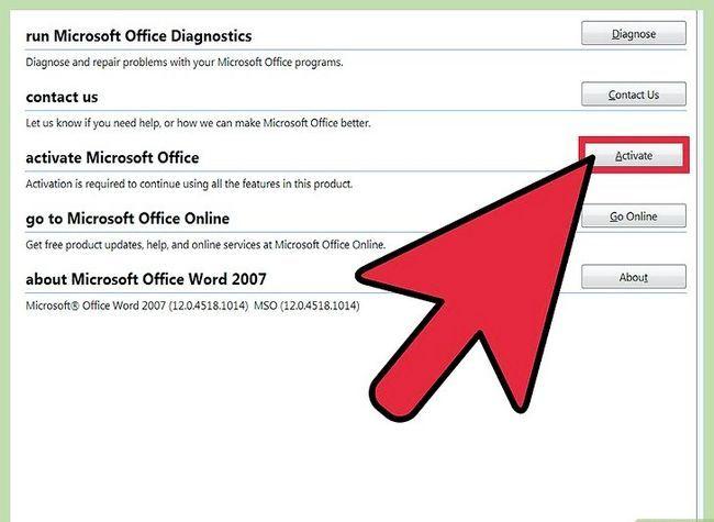Prent getiteld installeer Microsoft Office 2007 Stap 8