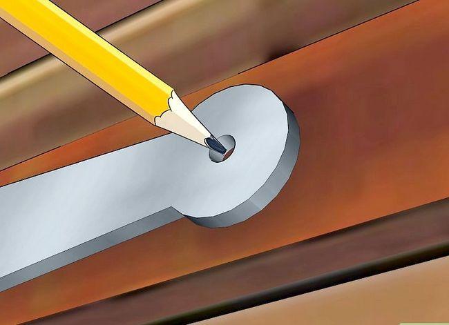 Prent getiteld Installeer buite-sluiter Stap 7