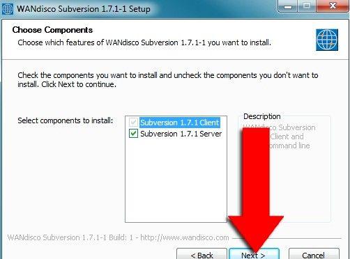 Prent getiteld Installeer Subversion Binaries op Windows Stap 3