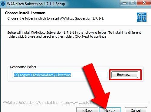 Prent getiteld Installeer Subversion Binaries op Windows Stap 4