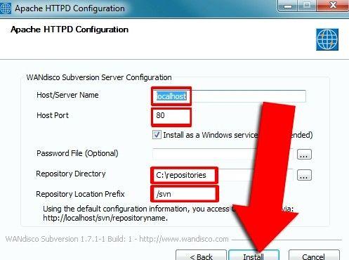 Prent getiteld Installeer Subversion Binaries op Windows Stap 5