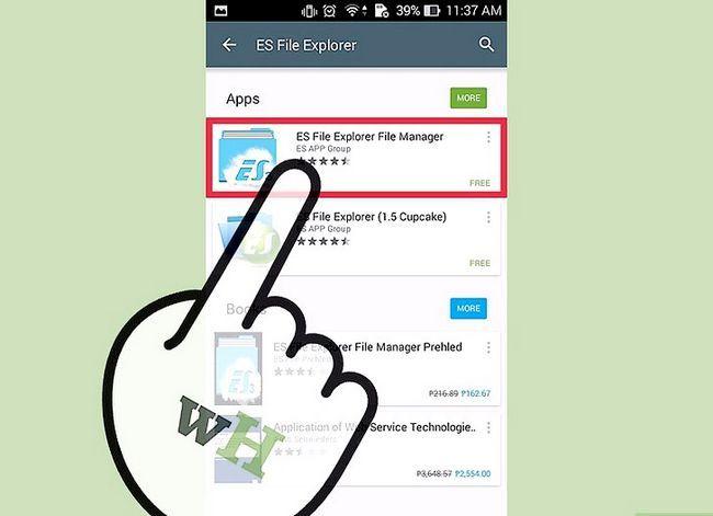 Prent getiteld Installeer `n lêerbestuurder op Android Stap 3