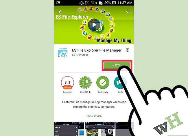 Prent getiteld Installeer `n lêerbestuurder op Android Stap 4