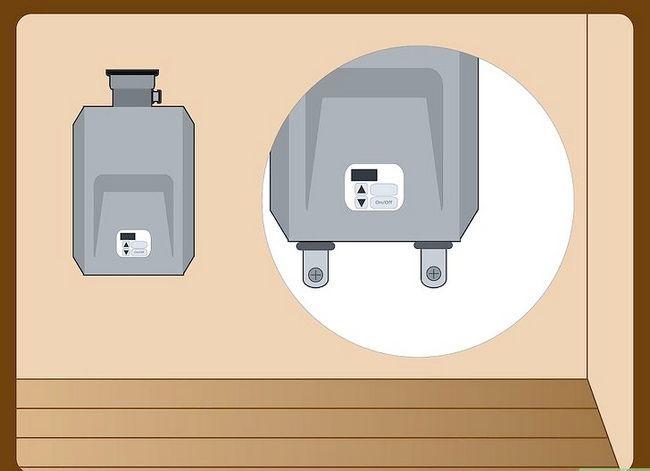 Prent getiteld `n Tanklose Warmwaterverhitter installeer Stap 9