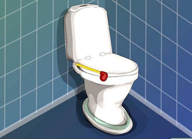 Prent getiteld `n nuwe toilet sitplek installeer Stap 1