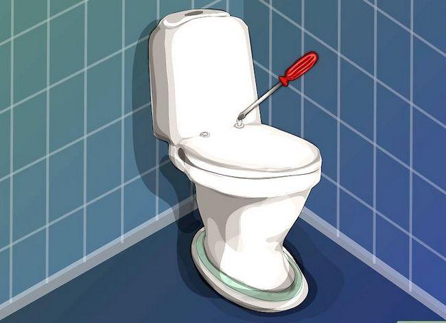 Prent getiteld `n nuwe toilet sitplek installeer Stap 3