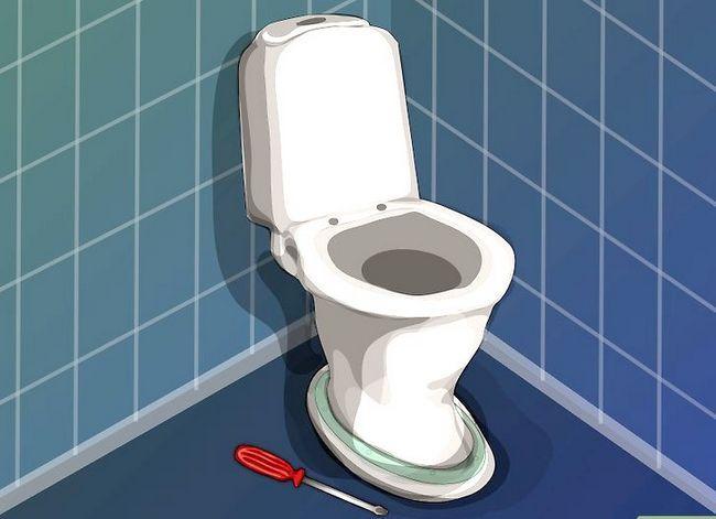 Prent getiteld `n nuwe toilet sitplek installeer Stap 4