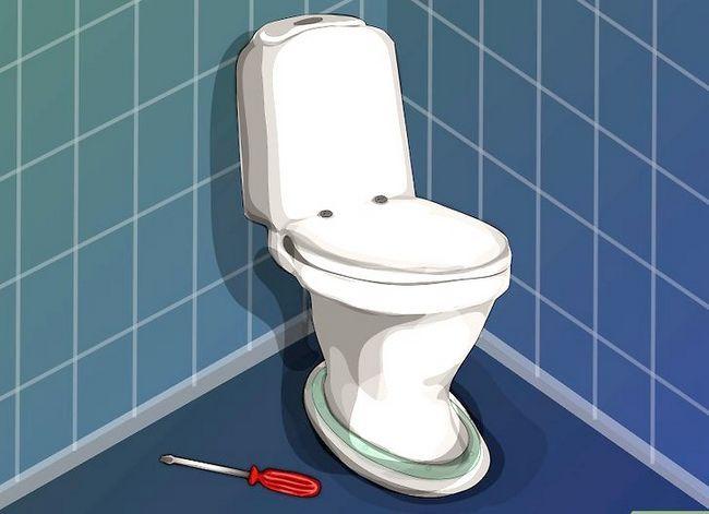 Prent getiteld `n nuwe toilet sitplek installeer Stap 6