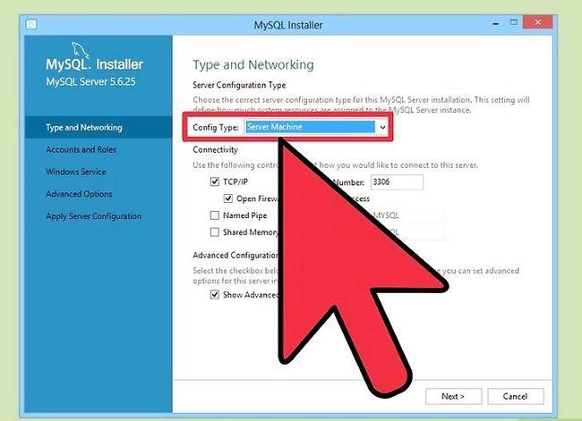 Prent getiteld Installeer die MySQL databasis bediener op u Windows PC Stap 11