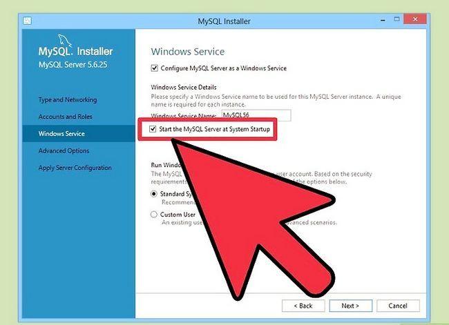 Prent getiteld Installeer die MySQL databasis bediener op u Windows PC Stap 12