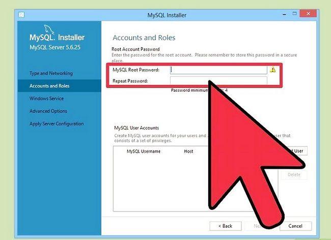 Prent getiteld Installeer die MySQL databasis bediener op u Windows PC Stap 13