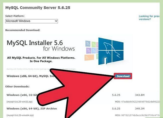 Prent getiteld Installeer die MySQL databasis bediener op u Windows PC Stap 2