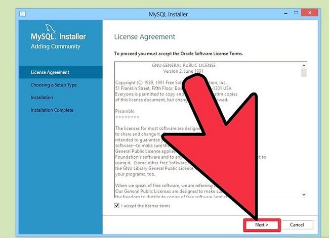 Prent getiteld Installeer die MySQL databasis bediener op u Windows PC Stap 5